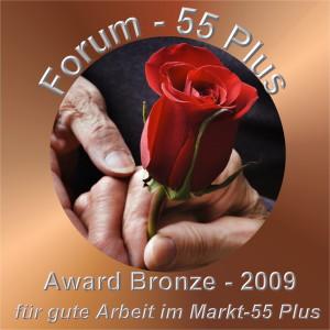 Award Bronze für gute Arbeit im Markt 55 Plus